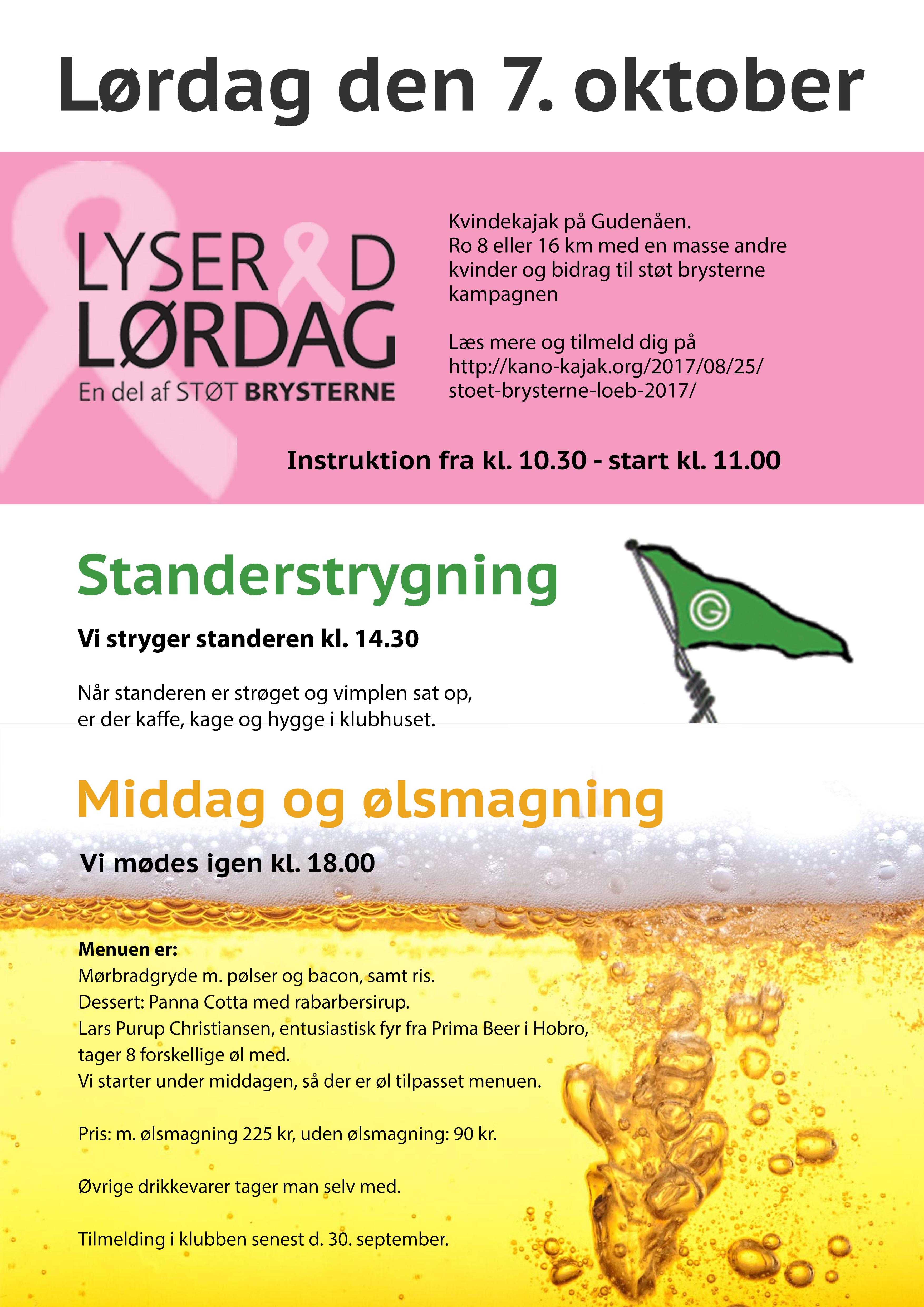 Standerstrygning og Lyserød lørdag 2017
